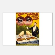 barnum and bailey Postcards (Package of 8)