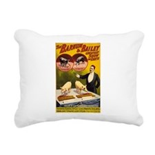 barnum and bailey Rectangular Canvas Pillow