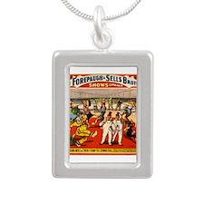 circus ad Silver Portrait Necklace