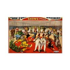 circus ad Rectangle Magnet