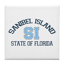 Sanibel Island - Varsity Design. Tile Coaster