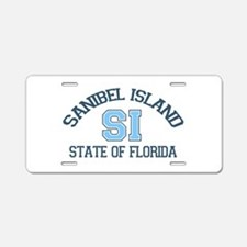 Sanibel Island - Varsity Design. Aluminum License