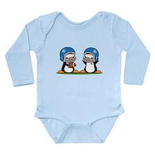 Football Penguins Long Sleeve Infant Bodysuit