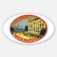 Hotel Majestic Saigon Sticker (Oval)