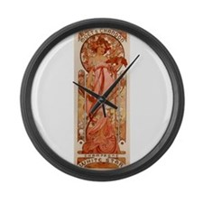 champagne ad Large Wall Clock