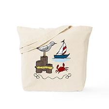 Nautical Scene Tote Bag