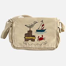 Nautical Scene Messenger Bag