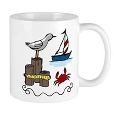 Nautical Scene Small Mug