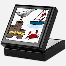 Nautical Scene Keepsake Box