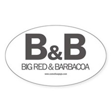 Big Red and Barbacoa White Decal