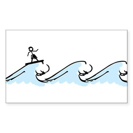 Surfing Sticker (Rectangle)
