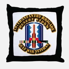 Army - DS - 197th IN Bde Throw Pillow