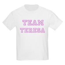 Pink team Teresa Kids T-Shirt