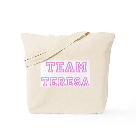 Pink team Teresa Tote Bag