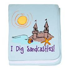 I Dig Sandcastles baby blanket
