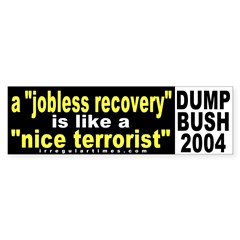 What a jobless recovery is like sticker
