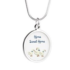 Home Sweet Home Silver Round Necklace