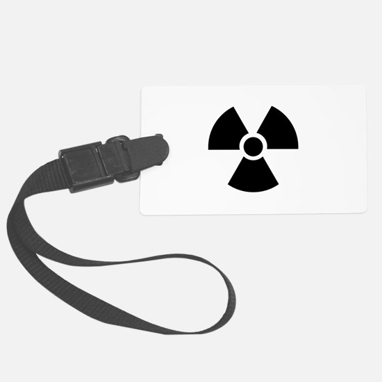 Radiation Warning Symbol Luggage Tag