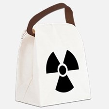 Radiation Warning Symbol Canvas Lunch Bag