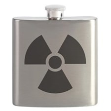 Radiation Warning Symbol Flask