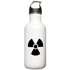 Radiation Warning Symbol Sports Water Bottle
