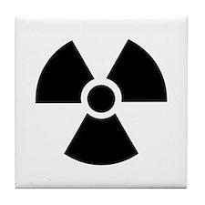 Radiation Warning Symbol Tile Coaster