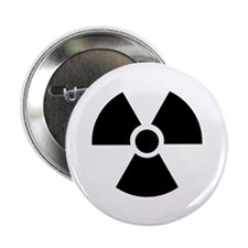 "Radiation Warning Symbol 2.25"" Button"