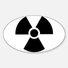 Radiation Warning Symbol Decal