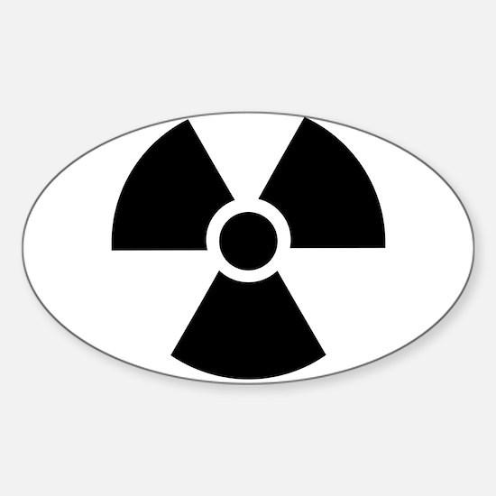 Radiation Warning Symbol Sticker (Oval)