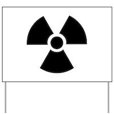 Radiation Warning Symbol Yard Sign
