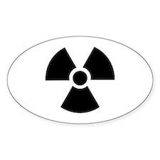 Radiation Warning Symbol Decal