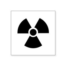 "Radiation Warning Symbol Square Sticker 3"" x 3"""