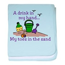 In The Sand baby blanket