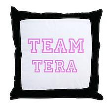 Pink team Tera Throw Pillow