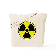 Radiation Warning Symbol Tote Bag