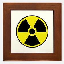 Radiation Warning Symbol Framed Tile