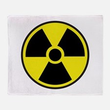 Radiation Warning Symbol Throw Blanket