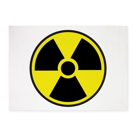 Radiation Warning Symbol 5 X7 Area Rug By Scooterbaby