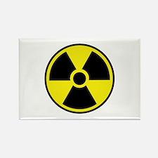 Radiation Warning Symbol Rectangle Magnet