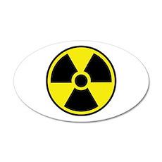 Radiation Warning Symbol Wall Decal