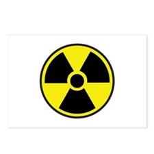 Radiation Warning Symbol Postcards (Package of 8)