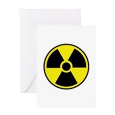 Radiation Warning Symbol Greeting Card