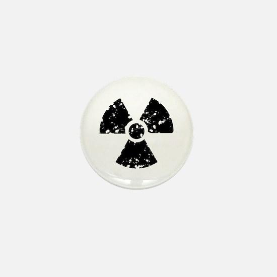 Radiation Warning Symbol Mini Button