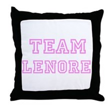 Pink team Lenore Throw Pillow