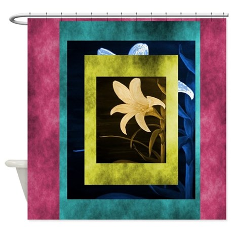 Beautiful Contemporary Floral Shower Curtain