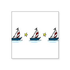 "Sailboats Square Sticker 3"" x 3"""