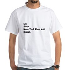Retired USPS eat sleep never think mail.PNG Shirt