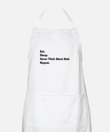Retired USPS eat sleep never think mail.PNG Apron
