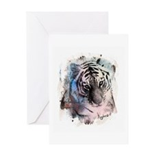 Pastel Painted Tiger Greeting Card