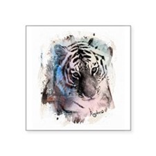 "Pastel Painted Tiger Square Sticker 3"" x 3"""